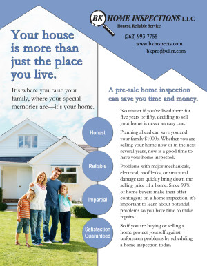 BK Home Inspections - Sell Sheet