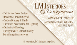 LM Interiors - Business Card