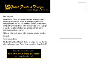 Great Finds & Design - Post Card