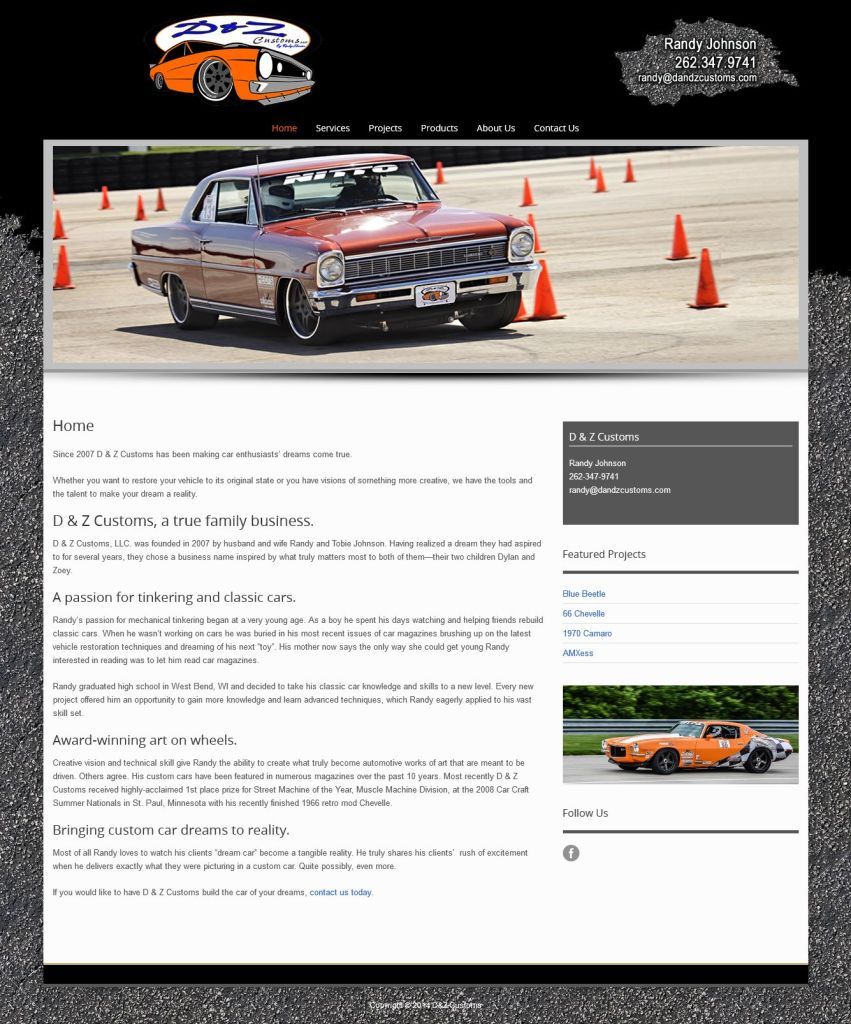 D&Z Customs - Website