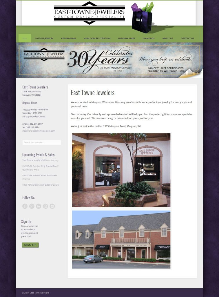 East Towne Jewelers website