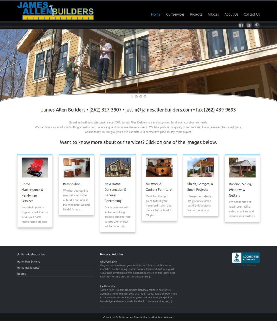 James Allen Builders website