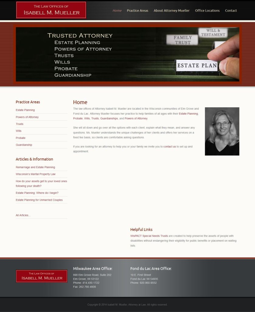 Law Offices of Isabell M Mueller website