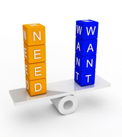 Want-need