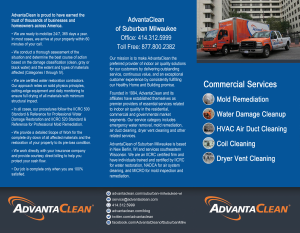 AdvantaClean - Commercial Brochure outside