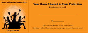 Katie's Cleaning Service - Coupon