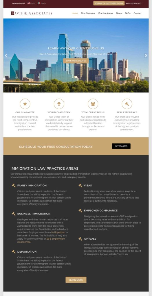Website Design & Development | Davis & Associates | EVH Marketing