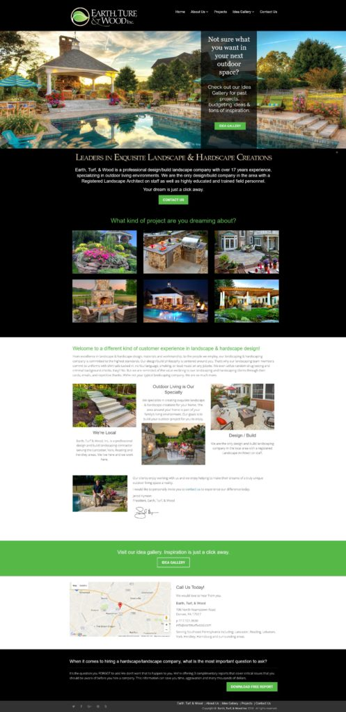 Earth Turf & Wood Website