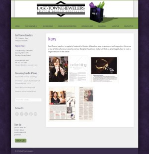 East Towne Jewelers - Website