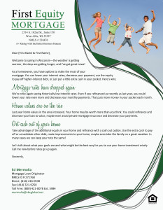 1st Equity Mortage - Direct Mail Letter