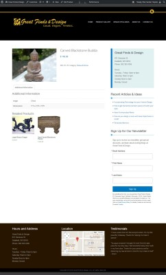 Great Finds & Design, Delafield, WI - Website