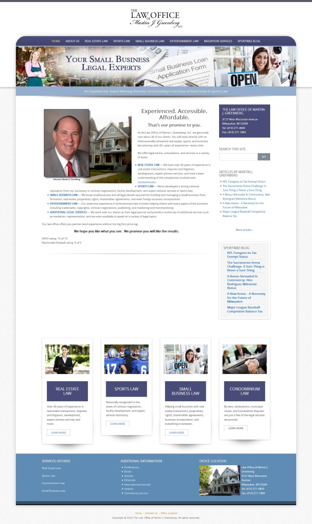Greenberg Law Office - website