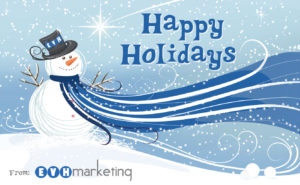 Happy Holidays Snowman 2018 | Milwaukee Marketing Firm