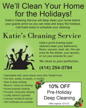 Katie's Cleaning Service - Ad