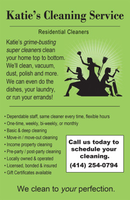 Katie's Cleaning Service - Brochure