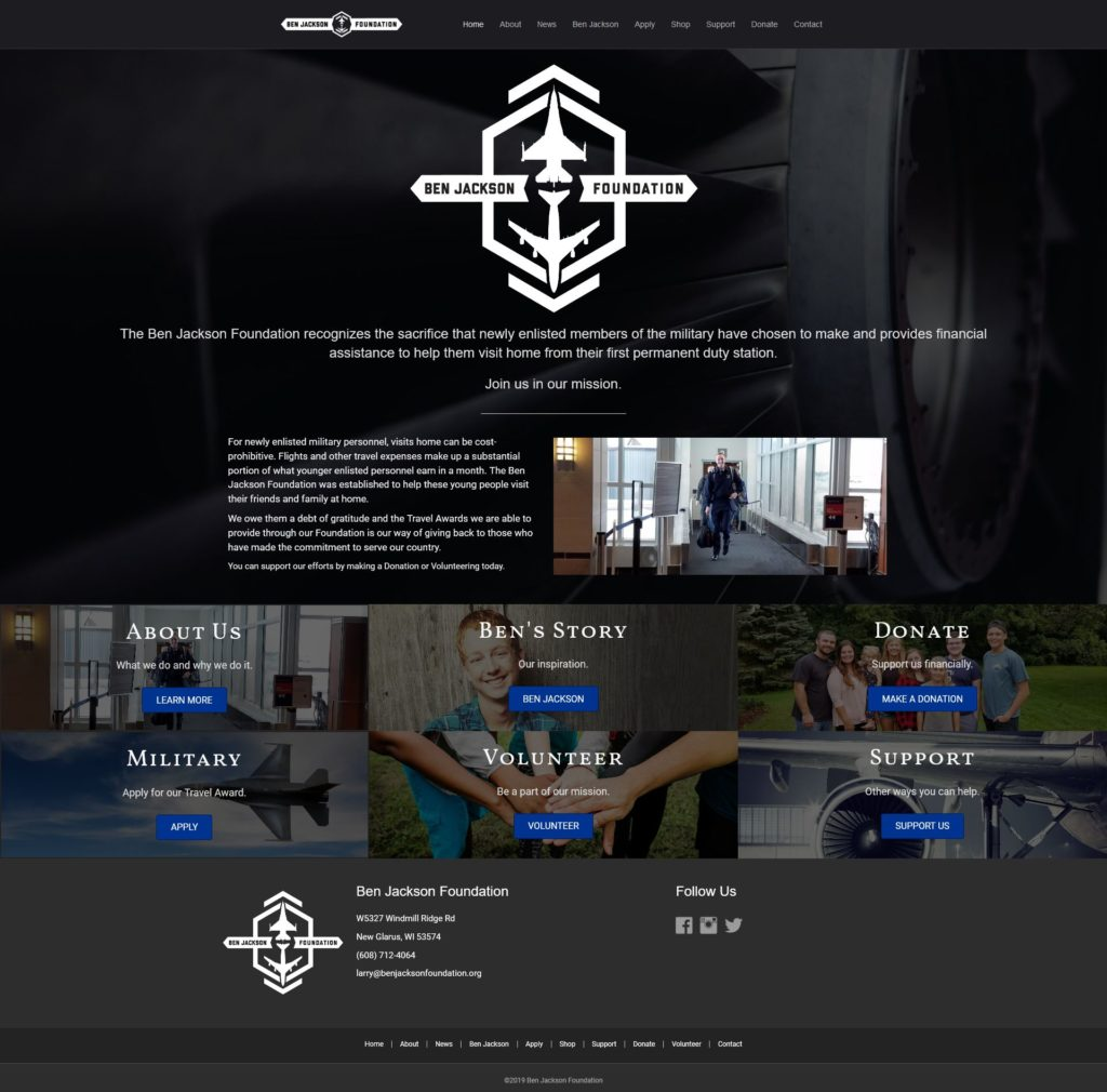 Ben Jackson Foundation | EVH Marketing | Website Design